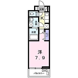 JR大阪環状線 鶴橋駅 徒歩11分の賃貸アパート 3階1Kの間取り