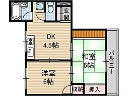 第一東雲マンション[2階]の間取り