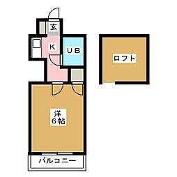 レオパレス箱崎I[3階]の間取り
