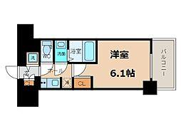 S-RESIDENCE南堀江 8階1Kの間取り