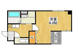 鶴橋末広ビル2[2階]の間取り