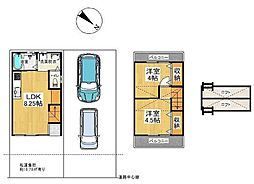 京福電気鉄道嵐山本線 太秦広隆寺駅 徒歩15分 2LDKの間取り
