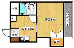 広島県広島市東区中山南1丁目の賃貸アパートの間取り