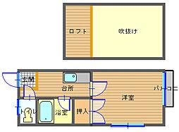 長崎県長崎市西琴平町の賃貸アパートの間取り