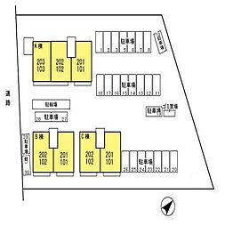 ロイヤルビュー太田 C[101号室]の外観