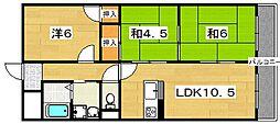 ラフィーネSHIIBA[2階]の間取り