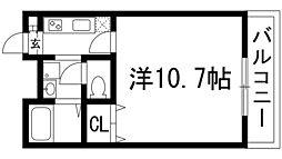 兵庫県伊丹市瑞ケ丘4丁目の賃貸マンションの間取り