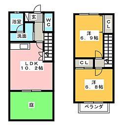 [テラスハウス] 愛知県春日井市美濃町1丁目 の賃貸【/】の間取り