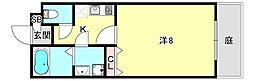 ワコーレヴィアーノ須磨離宮前EX 1階1Kの間取り