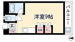 愛知県名古屋市名東区藤が丘の賃貸マンションの間取り