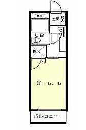 六甲アサヒ[1階]の間取り