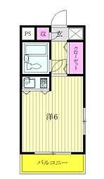 ソシアーレ・ミラン武蔵浦和パートII[308号室]の間取り