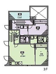 都営新宿線 曙橋駅 徒歩5分の賃貸アパート 2階1LDKの間取り