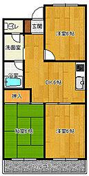 神奈川県茅ヶ崎市東海岸南2丁目の賃貸マンションの間取り
