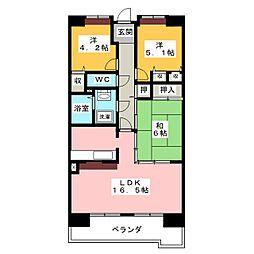 アーバンドエル八事石坂[11階]の間取り