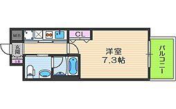 阪急京都本線 大阪梅田駅 徒歩7分の賃貸マンション 7階1Kの間取り