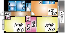 兵庫県神戸市東灘区御影塚町1丁目の賃貸マンションの間取り