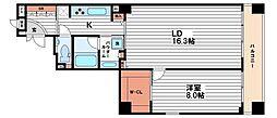 ブラービ南船場(BRAVI南船場)[2階]の間取り