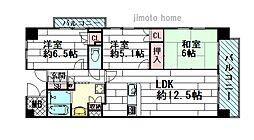 アレンダール茨木東中条[7階]の間取り