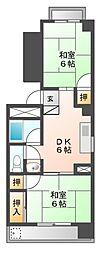 京田レジデンス[2階]の間取り