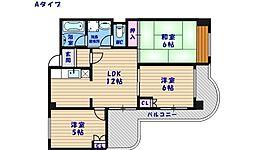 エスポワール住之江公園[6階]の間取り