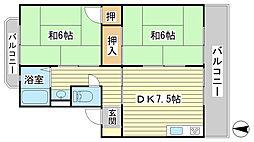 日山マンション[2-6号室]の間取り
