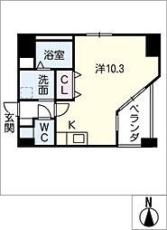 GRANDUKE東別院crea[5階]の間取り