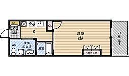 Osaka Metro御堂筋線 西中島南方駅 徒歩8分の賃貸マンション 2階1Kの間取り