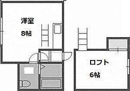 プレジデントN[3階]の間取り
