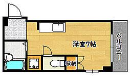 兵庫県神戸市兵庫区中道通9丁目の賃貸アパートの間取り