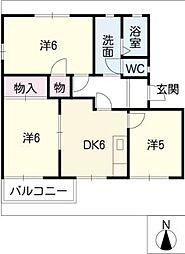 ザ・リバーサイドマンション[1階]の間取り