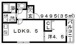 K8(ケーエイト)[101号室号室]の間取り