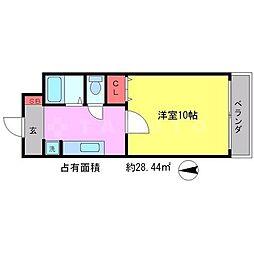 メゾンOKUMURA[3階]の間取り