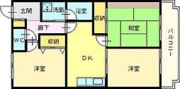 ピソ・キタノ[4階]の間取り