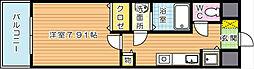 グランドツイン黒崎 B棟[8階]の間取り