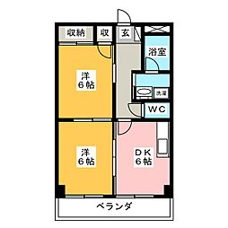 ジュネスKOA[3階]の間取り