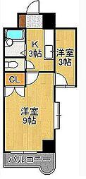 ウインズ浅香I・II[8階]の間取り
