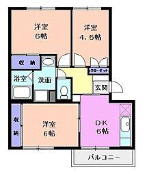 カームパインツリー23[3階]の間取り