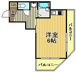 プレアール梅香[4階]の間取り