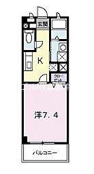JR宇野線 茶屋町駅 徒歩35分の賃貸アパート 1階1Kの間取り