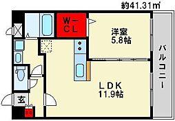 パークサイドソレイユ[2階]の間取り