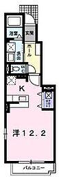 香川県丸亀市三条町の賃貸アパートの間取り