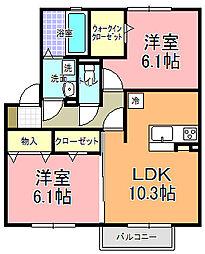 仮)D−room寄井 O[202号室]の間取り