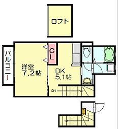 シャルマンドミール[2階]の間取り