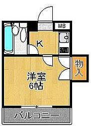 エルム泉大津パートI[407号室]の間取り