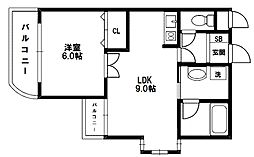 ASKコート[4階]の間取り