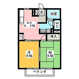リバーサイド高田B[2階]の間取り