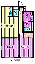 アービスマンション[103号室]の間取り