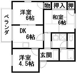 フレグランス藤井A棟[202号室]の間取り