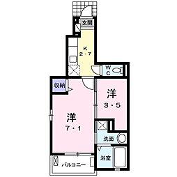 セレノカーサIII[1階]の間取り